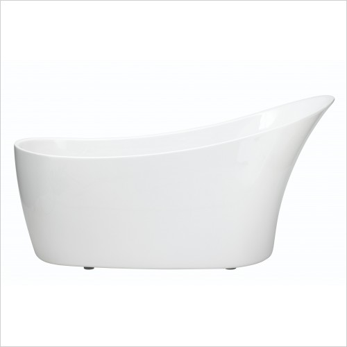 Heritage Bathtubs - Polperro 1590 x 700mm Slipper Acrylic Bath NTH