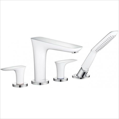 Hansgrohe Showers - Puravida Rim Mounted 4 Hole Bath Shower Mixer with Shower