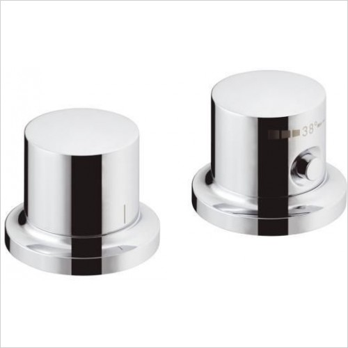 Axor Taps - Massaud 2-Hole Rim Mounted Thermostatic Bath Mixer