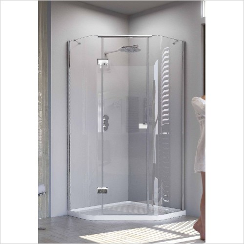 Matki Shower Enclosures - Illusion Quintesse & Tray 1000 x 800mm - Left Hinge