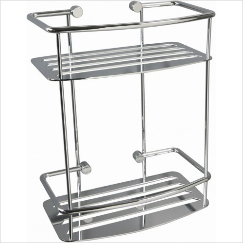Miller Accessories - Classic 2 Tier Shower Sheld D Shaped