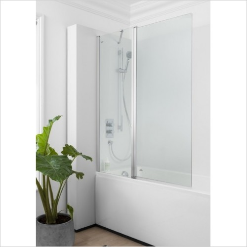 Crosswater Shower Enclosures - Click Double Bath Screen