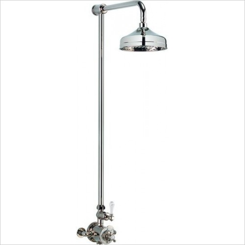 Belgravia Thermostatic Shower Valve With 12'' Fixed Head