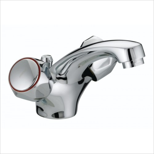 Bristan Taps - Club Mono Basin Mixer With Pop Up Waste & Metal Heads