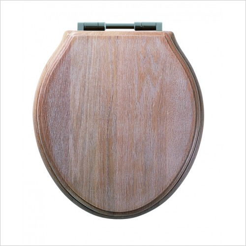 Roper Rhodes Toilet Seats - Traditional Soft Close Toilet Seat - Solid Limed Oak
