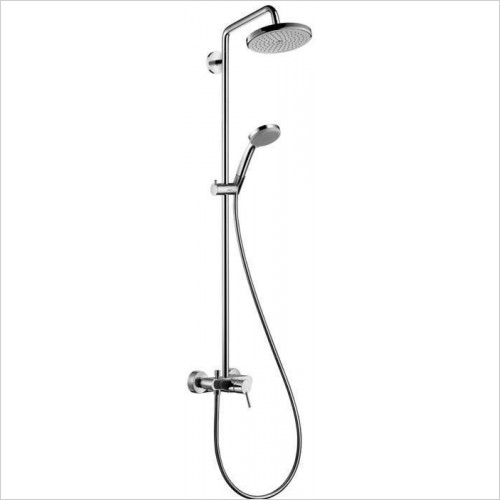 Hansgrohe Showers - Croma 220 OverHead Shower With Single Lever & Arm