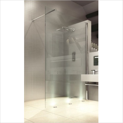 Merlyn Shower Enclosures - 8 Series Showerwall 700mm Incl MStone Tray