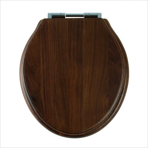 Roper Rhodes Toilet Seats - Greenwich Toilet Seat Soft Close Hinge - Walnut