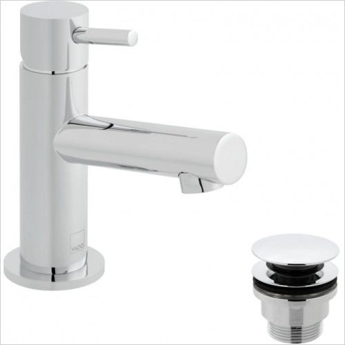 VADO Taps - Zoo Mini Mono Basin Mixer Single Lever Smooth Bodied
