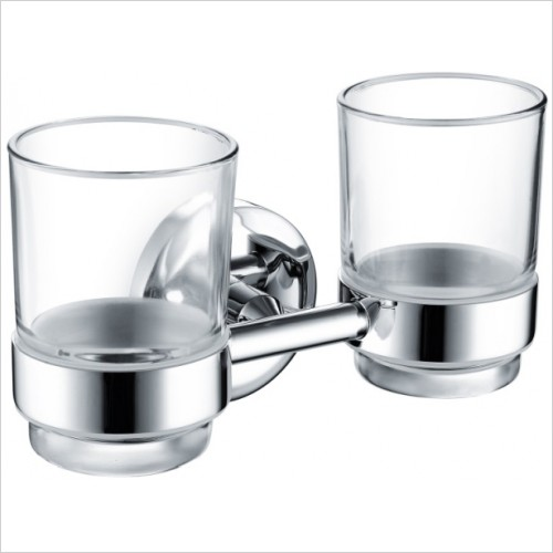 Bristan Accessories - Solo Double Tumbler & Holder