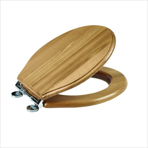 Roper Rhodes Toilet Seats - Greenwich Toilet Seat Soft Close Hinge - Natural Oak