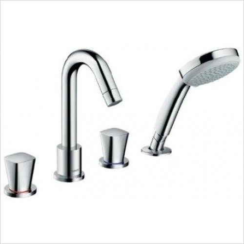 Hansgrohe Showers - Logis 4-Hole Rim Mounted Bath Mixer