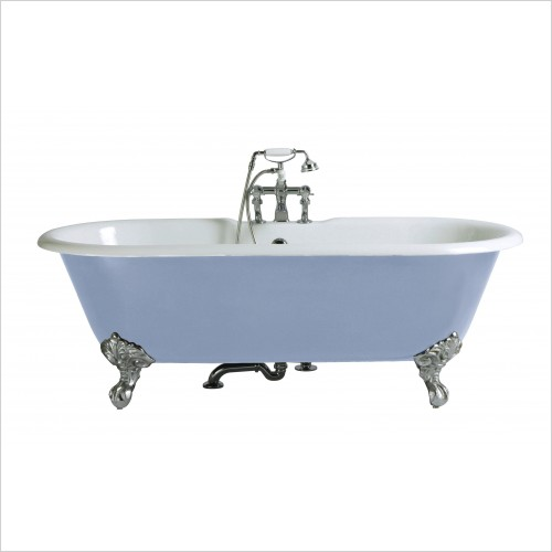 Heritage Bathtubs - Buckingham 1700 x 770mm Cast Iron Roll Top Bath No Tap Hole