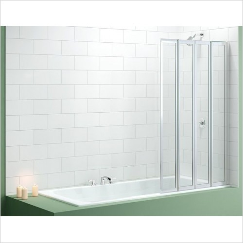Merlyn Shower Enclosures - Vivid Bath Screen 850 x 1400mm 4 Fold