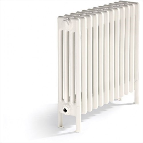 Bisque Radiators - Classic Radiator 4 Column Deep With Feet 375 x 490mm
