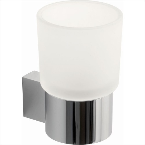 VADO Accessories - Infinity Frosted Glass Tumbler & Holder Wall Mounted
