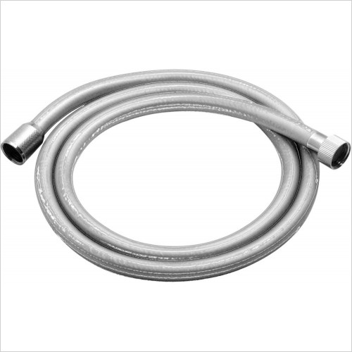 VADO Showers - Zoo Smoothflex Anti-Twist Silver Shower Hose 150cm
