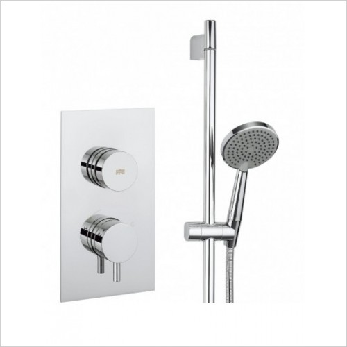 Crosswater Showers - Dial Valve 1 Control With Kai Lever Trim