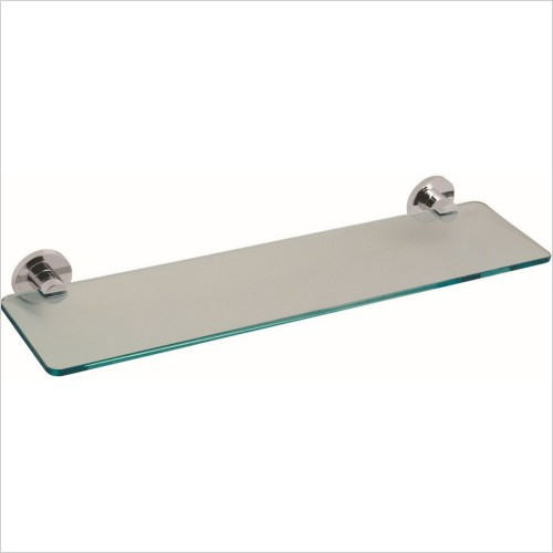 VADO Accessories - Elements Frosted Glass Shelf 558mm (22'') Wall Mounted