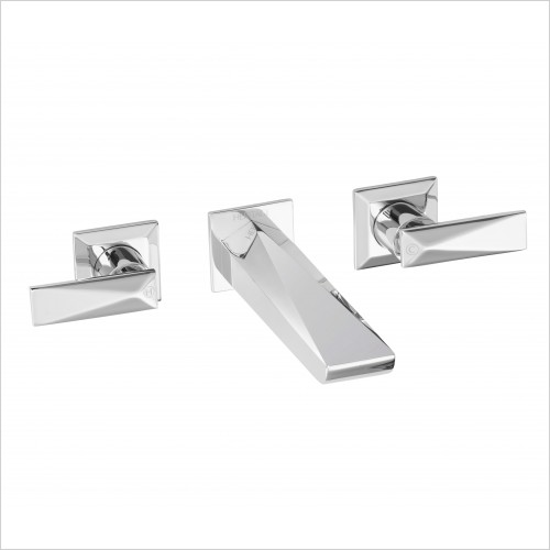 Heritage Taps - Hemsby Wall Mounted Basin Mixer 3 Tap Hole
