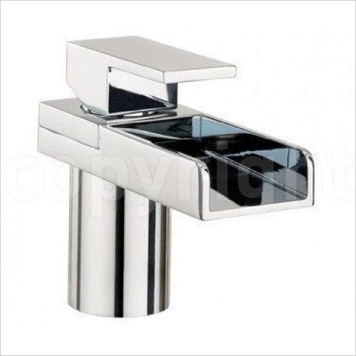 Crosswater Taps - Water Sqaure Basin Monobloc With Lights