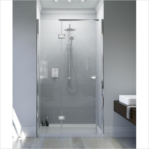 Matki Shower Enclosures - Illusion Recess & Tray 900 x 800mm Left Hand - Soft Handle