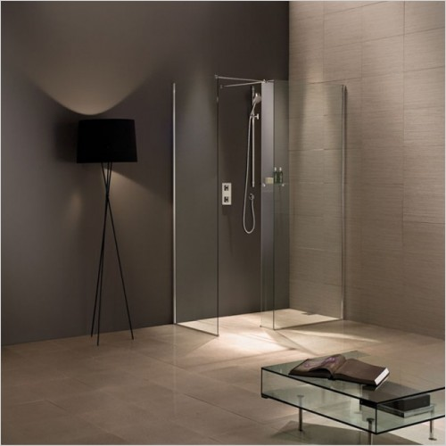 Matki Shower Enclosures - Wet Room Walk-In Twin Entrance 900mm GG