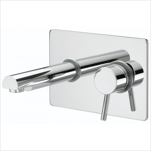 Bristan Taps - Prism Single Lever Wall Mounted Basin Mixer