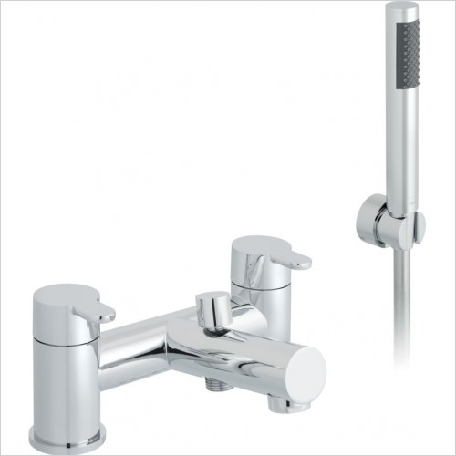 VADO Showers - Sense 2 Hole Bath Shower Mixer Deck mounted