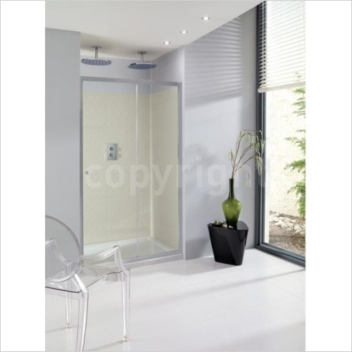 Simpsons Shower Enclosures - Edge Single Slider 1000mm