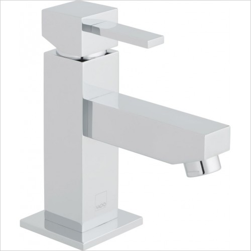 VADO Taps - Té Mini Mono Basin Mixer Single Lever Smooth Bodied