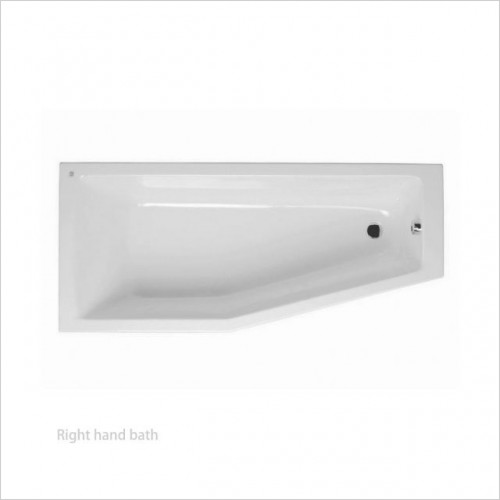 Vitra Baths - Neon Offset Space Saver Bath 170 x 75 x 50cm RH