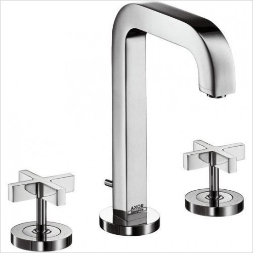 Axor Taps - Citterio 3-Hole Basin Mixer 170 With Cross Head Handles
