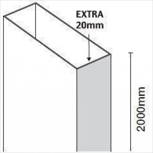Merlyn Optional Extras - 10 Series Extension Profile For Pivot 20mm