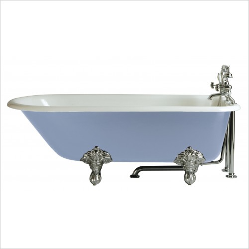 Heritage Bathtubs - Essex 1700 x 770mm Cast Iron Roll Top Bath No Tap Hole