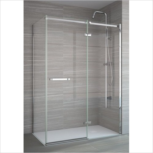 Merlyn Shower Enclosures - 8 Series Frameless Side Panel 760mm