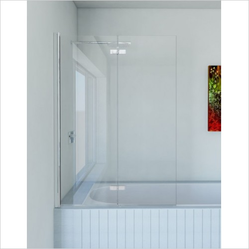Matki Shower Enclosures - Folding Bath Screen 1100mm GG