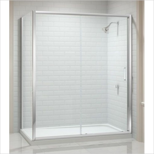 Merlyn Shower Enclosures - 8 Series Sliding Door 1000mm Incl MStone Tray