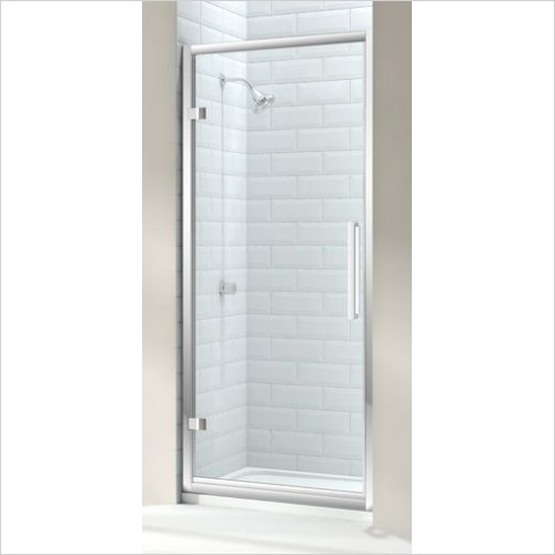Merlyn Shower Enclosures - 8 Series Hinge Door 900mm Incl MStone Tray