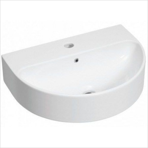 Bauhaus Basins - Celeste Wall Mounted Basin With Overflow 500mm