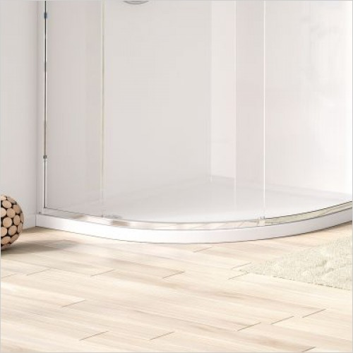 Matki Shower Enclosures - Curved 40 Shower Tray 900 x 900mm