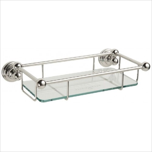 Perrin and Rowe Accessories - Traditional 10'' Glass Shelf