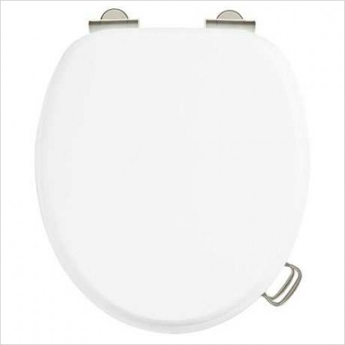 Burlington Toilets - Soft Close Toilet Seat With Chrome Finish Hinges