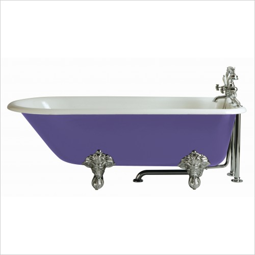 Heritage Bathtubs - Essex 1700 x 770mm Cast Iron Roll Top Bath 2 Tap Holes
