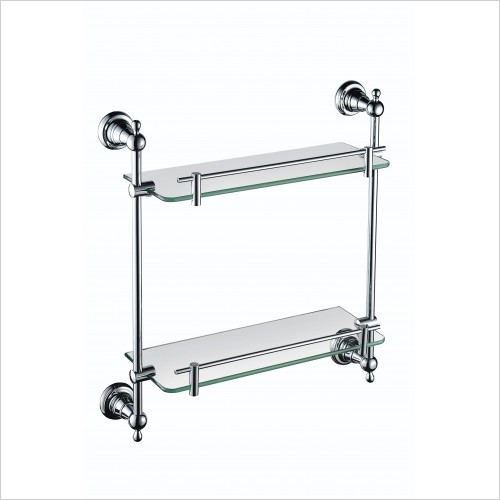 Heritage Accessories - Holborn Double Glass Shelf