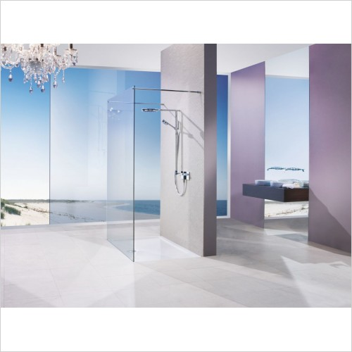 Matki Shower Enclosures - Twin Entrance Panel 950mm With 2x 1000mm Brace Bars