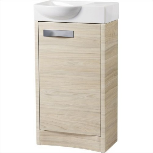 Mia 450mm Small Cloakroom Bathroom Unit - Light Elm