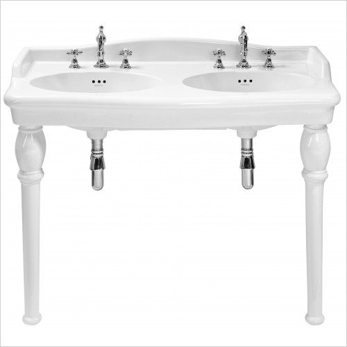 Heritage Basins - Victoria Double Console Basin 3 Tap Hole