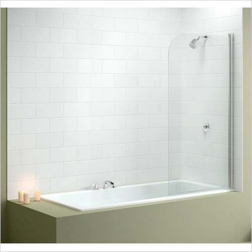 Merlyn Shower Enclosures - Single Curved Bath Screen 800 x 1500mm