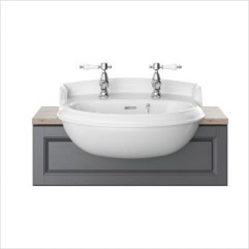 Heritage Basins - Dorchester Semi-Recessed Basin 1 Tap Hole